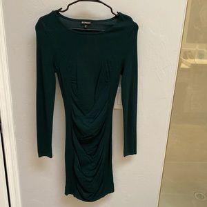 Emerald Green Sweater Dress from Express!